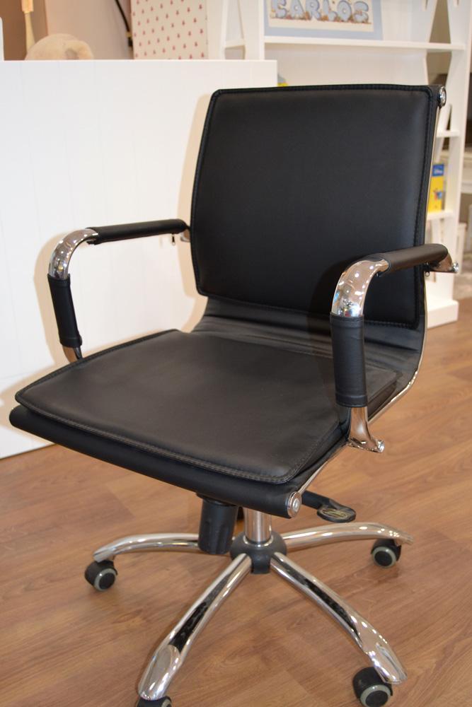 Silla escritorio negra infantil el p jaro carpintero - Sillas infantiles escritorio ...