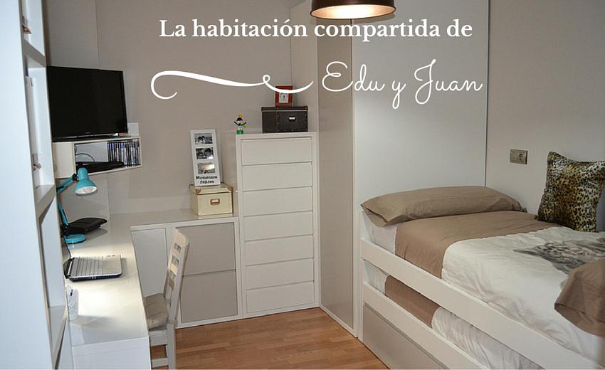El dormitorio juvenil de edu y juan el p jaro carpintero - Dormitorios juveniles para dos hermanos ...