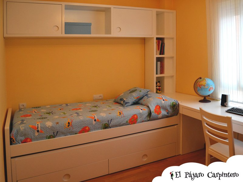 Puentes con librer a en dormitorios el p jaro carpintero - Dormitorio puente ...