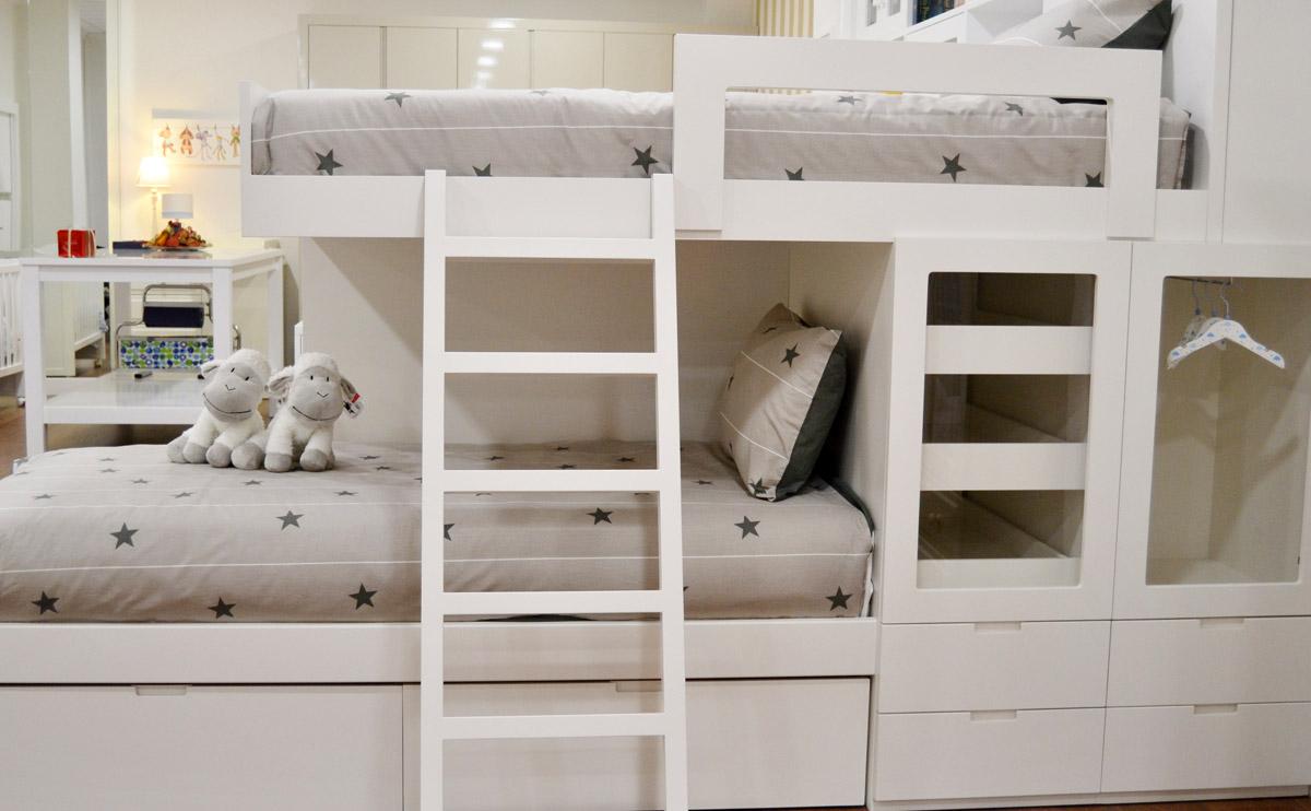 Dormitorio conjunto tren el p jaro carpintero - Dormitorios con literas para ninos ...