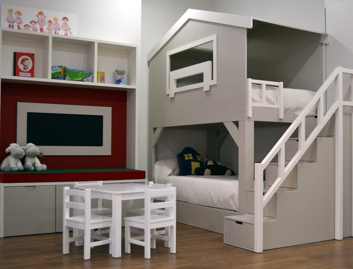 Litera casita el p jaro carpintero - Dormitorios infantiles literas ...