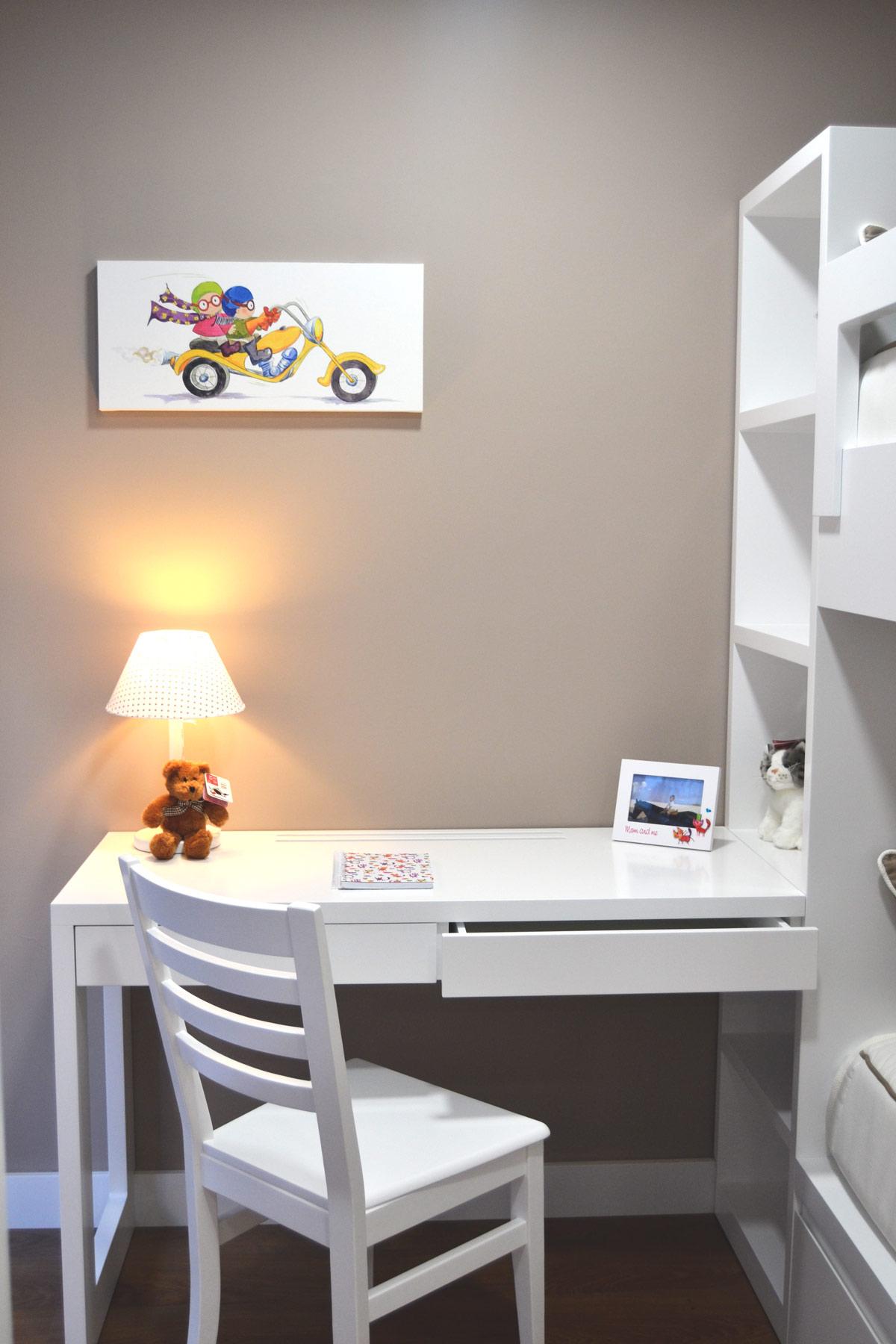 Dormitorio litera tatami el p jaro carpintero - Literas con escritorio debajo ...