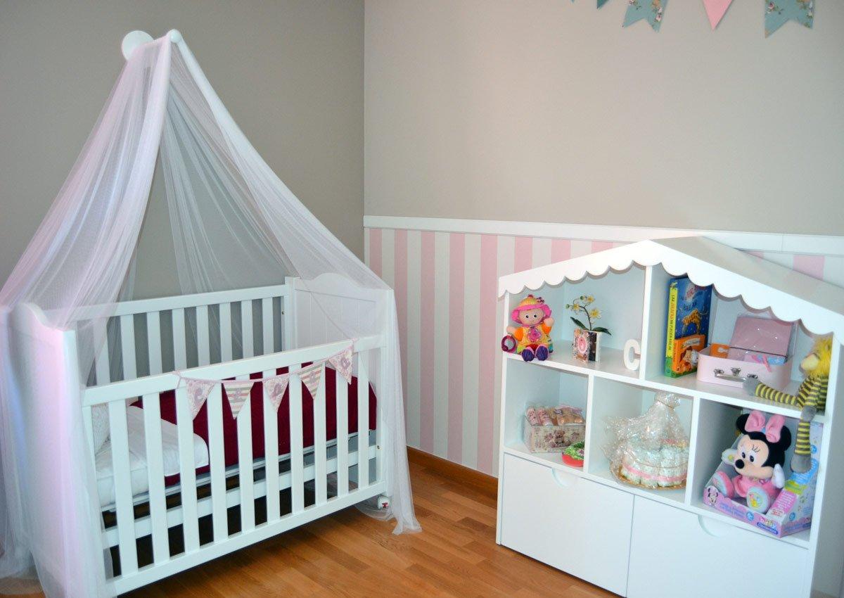 habitacion infantil cuna romantica