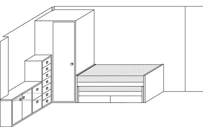 Plano 1 habitacion