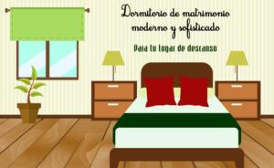 Dormitorio de matrimonio moderno y sofisticado para tu lugar de descanso