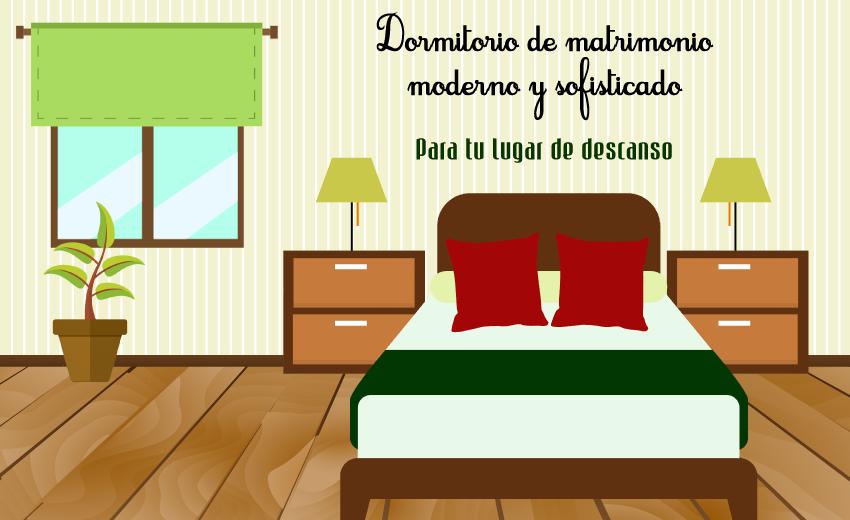 Dormitorio de matrimonio moderno y sofisticado para tu for Mobiliario habitacion matrimonio