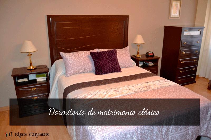 dormitorio de matrimonio clasico