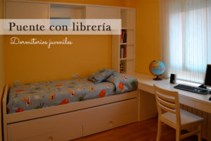 Puentes con librería en dormitorios