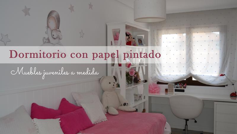 Dormitorio juvenil con pizarra y papel pintado for Papel pintado para dormitorios