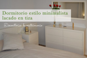 Dormitorio de matrimonio minimalista