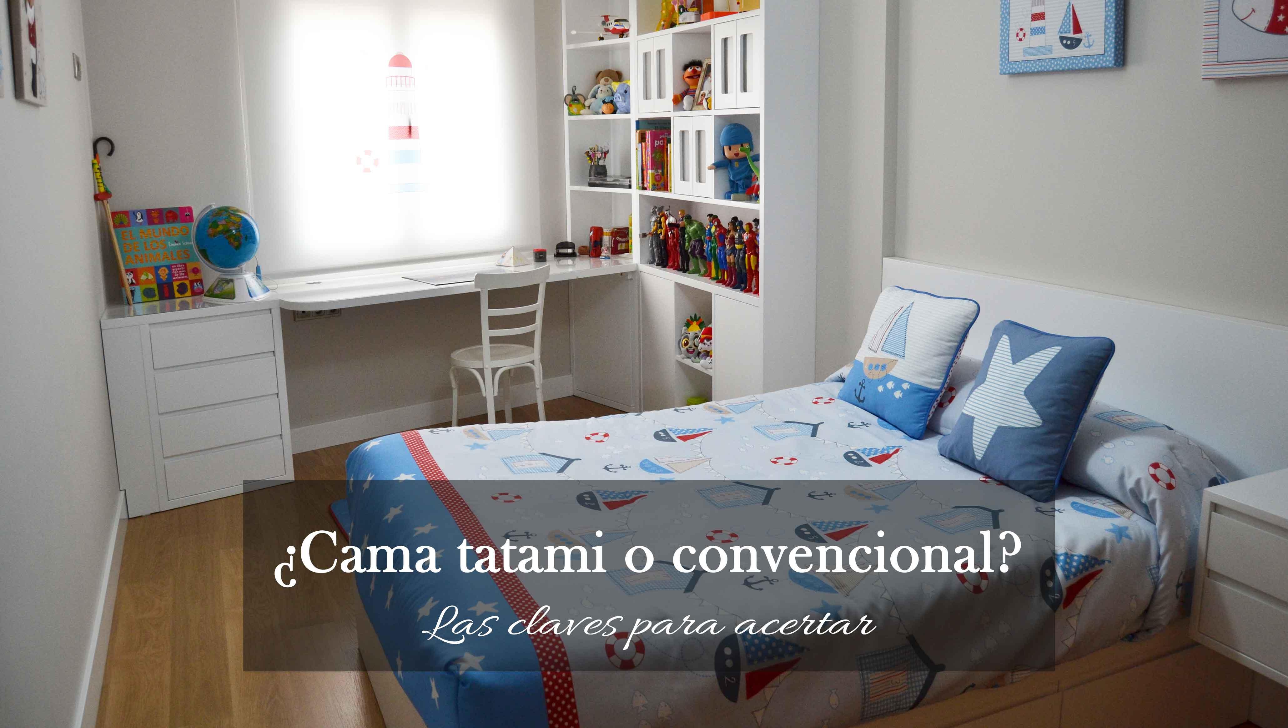 cama tatami y cama convencional en El Pájaro Carpintero
