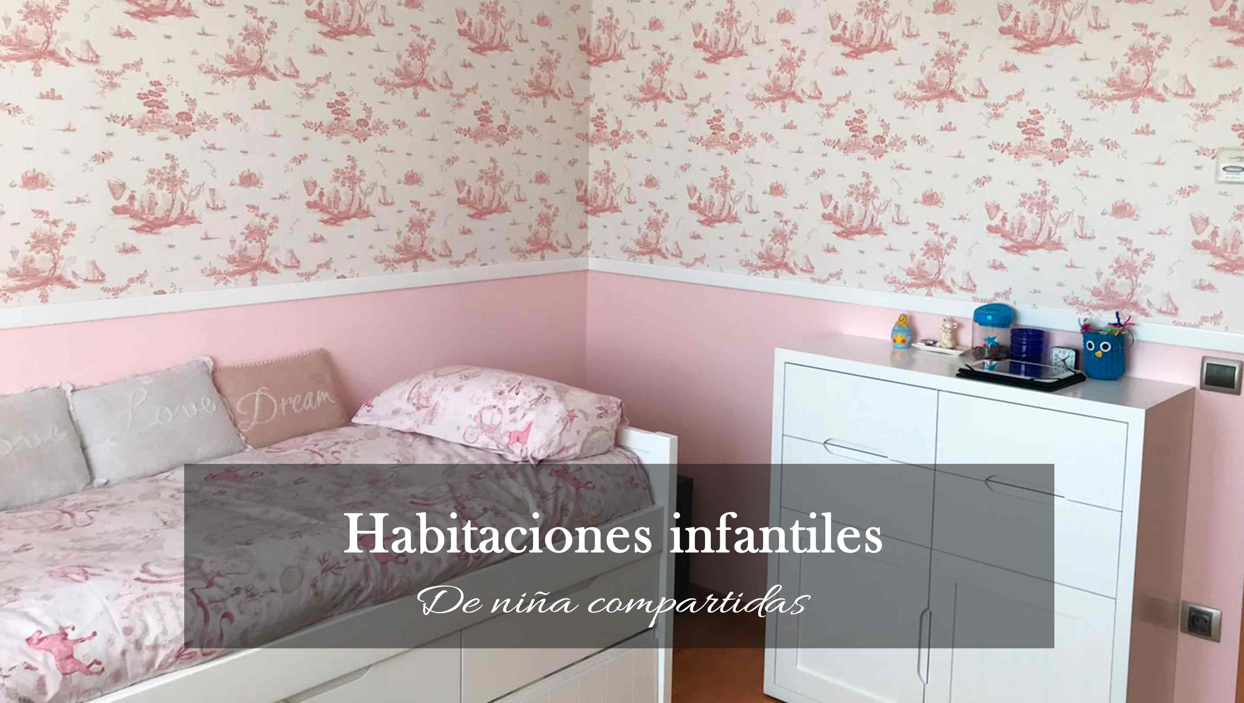 Habitaciones infantiles de niña compartidas