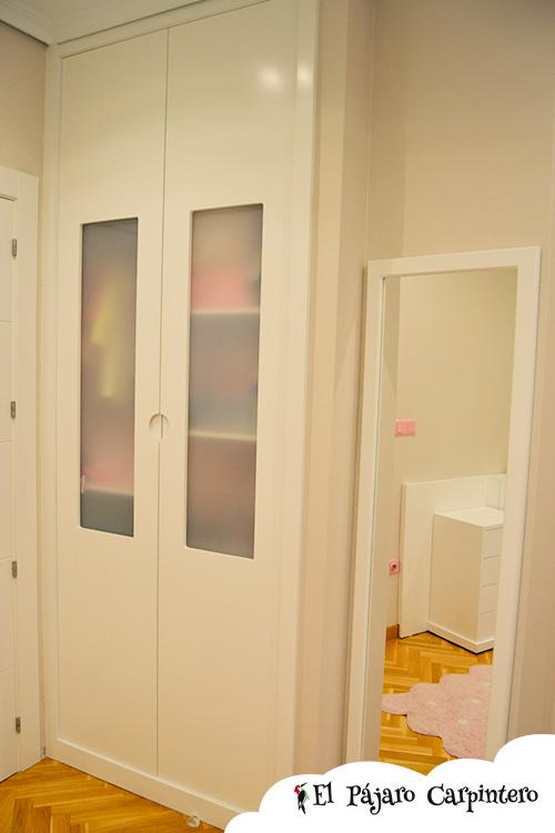 Armario para habitación infantil con puertas al acero