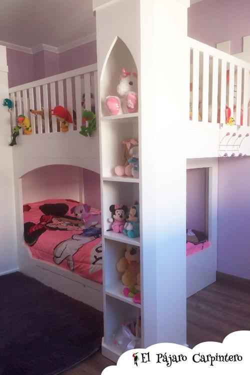 Estanterías para completar la cama castillo