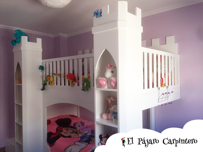 Cama castillo infantil para niñas