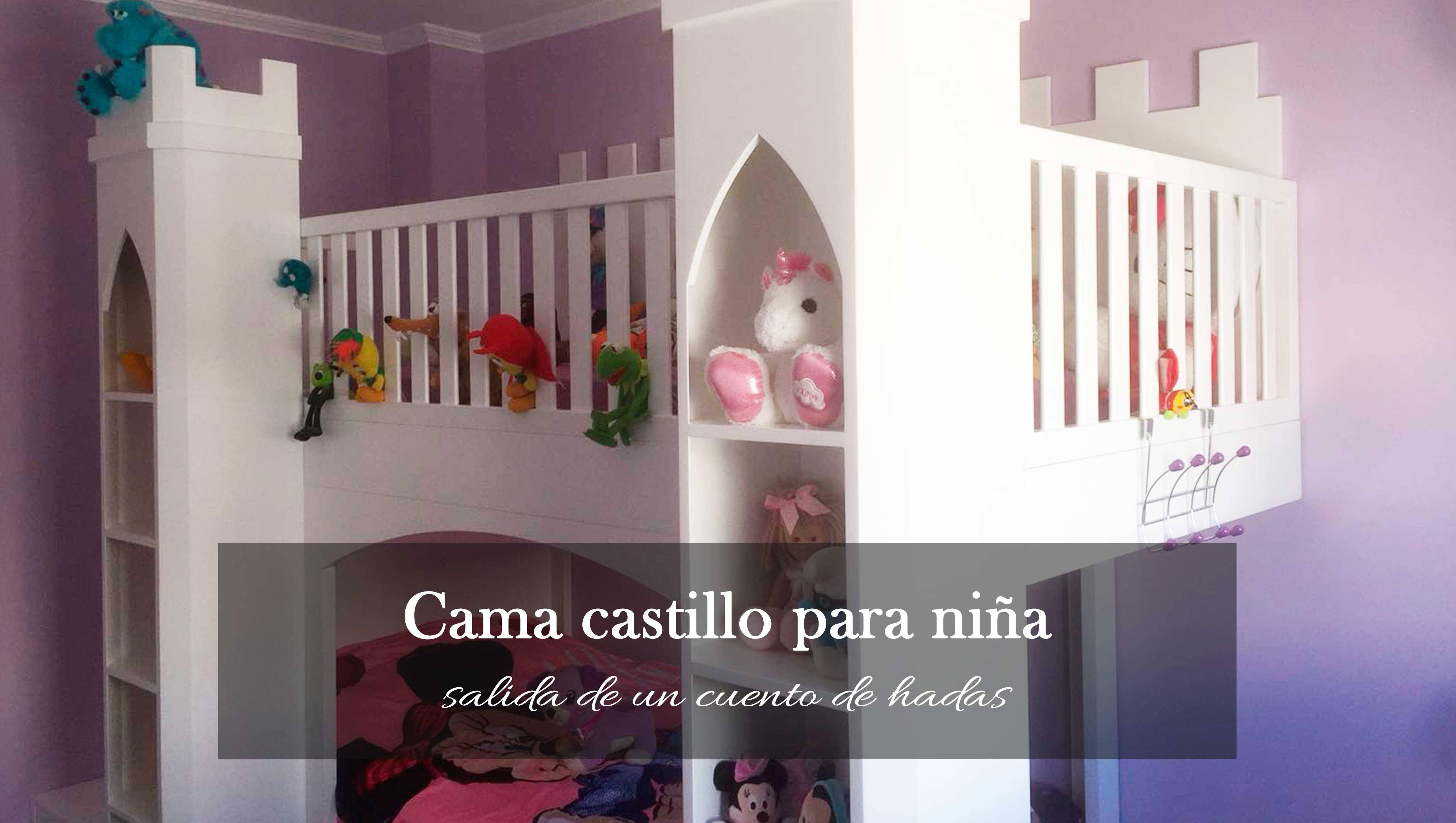 Cama en forma de castillo para dormitorios infantiles