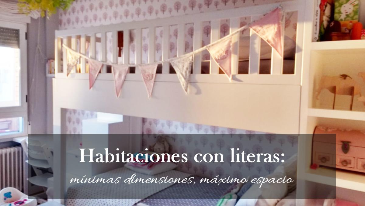 Habitaciones con literas, mínimas dimensiones y máximo espacio