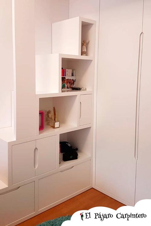 estanteria libreria para cama