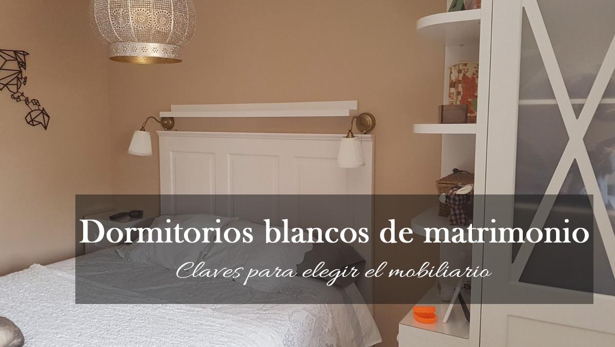 Dormitorios blancos de matrimonio