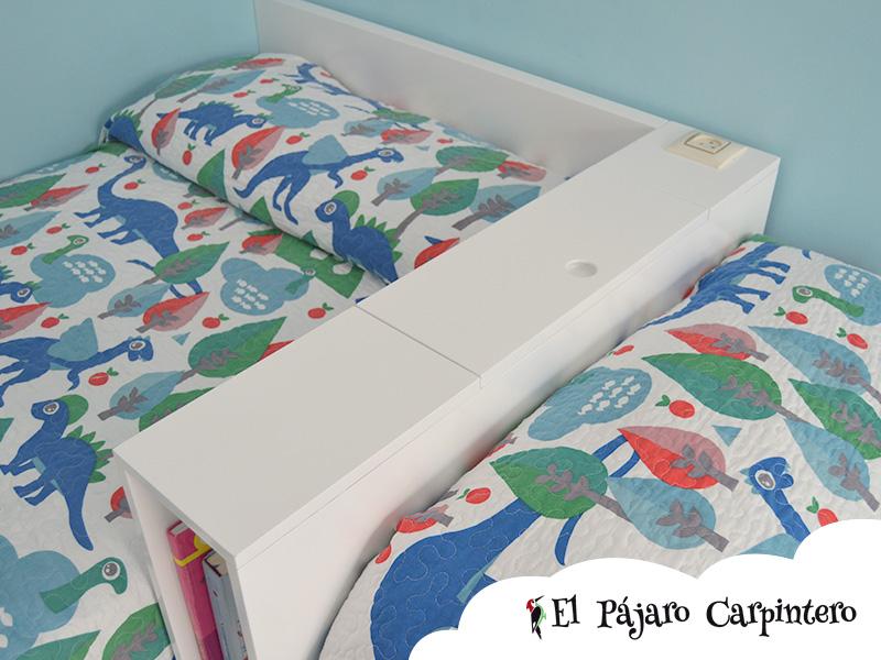 Caja de enchufes para las camas en L