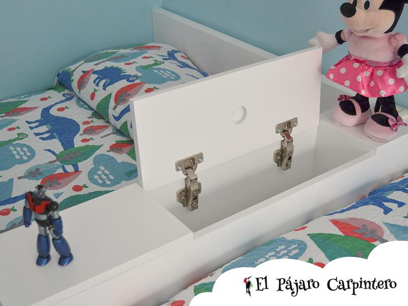 Arcón separador de las camas en L