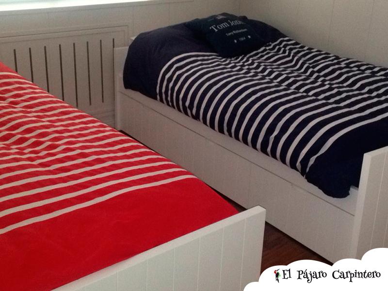 habitacion dos camas estilo moderno