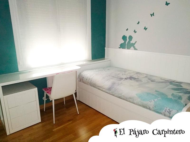 Habitación cama nido con friso