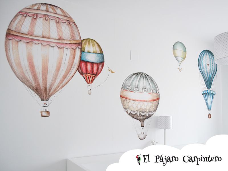 Vinilo con globos para habitación infantil