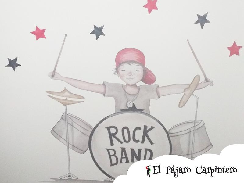 Mural Rock Band