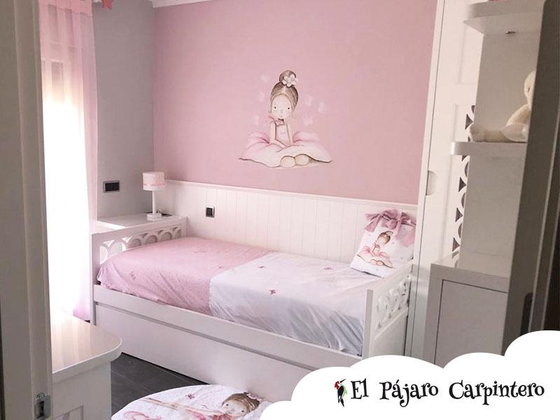 Cabecero calado para dormitorio infantil integral