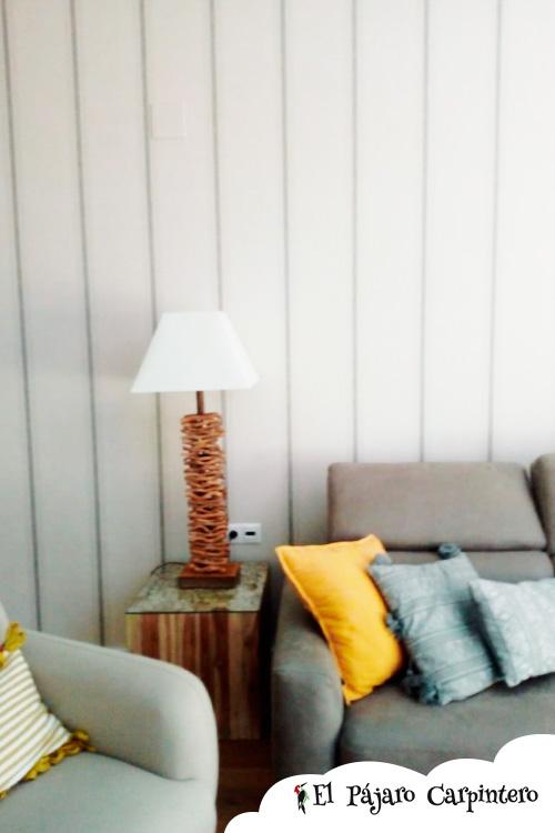 Papel pintado gris para salón