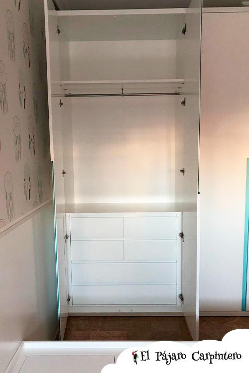 Estructura interior armario